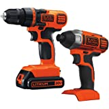 Black & Decker BD2KITCDDI 20V MAX Drill/Driver Impact Combo Kit