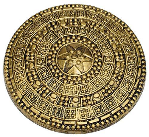 21999 17 Inch Round Plastic Gold Roman Shield -