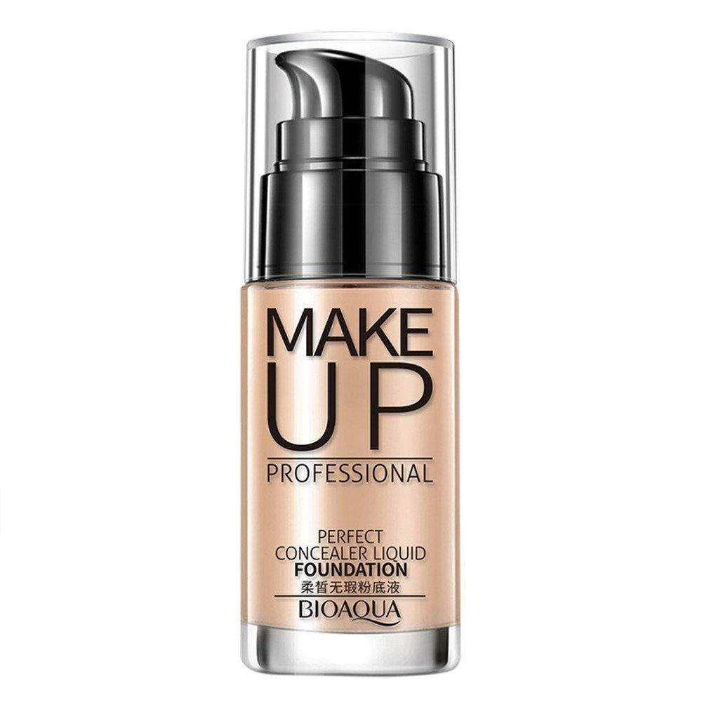 Professional Makeup Concealer Liquid Foundation Moisturizing Waterproof Concealer Cream (B)
