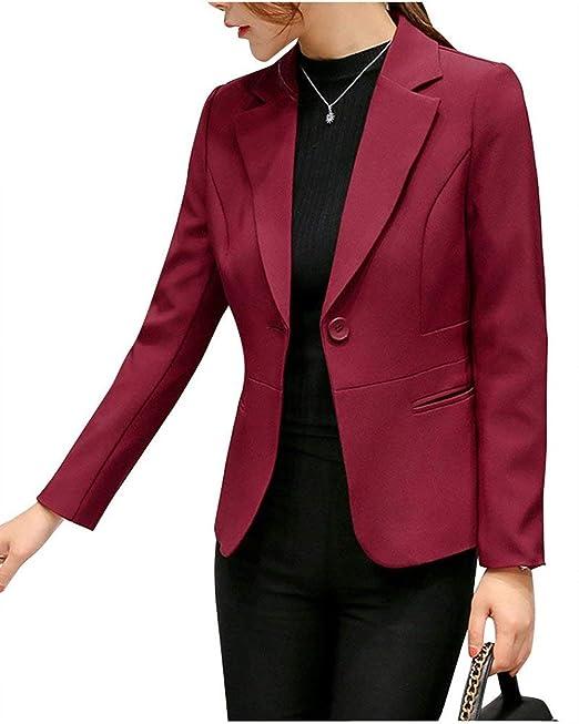 Donna Giacca da Tailleur Primaverile Autunno Slim Fit Manica