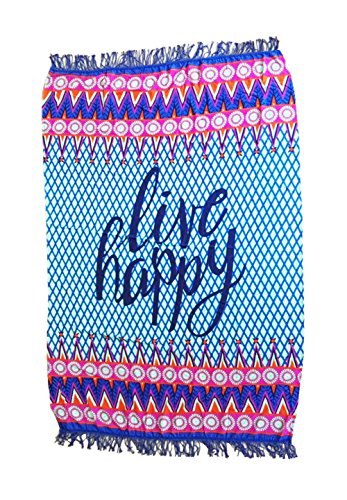 TomYork Live Happy Beach Towel Blankets (Secrets Of A Bollywood Marriage)