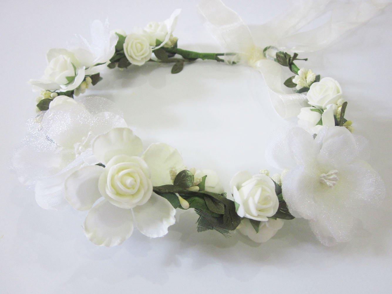 Amazon Bridal Flower Garland Artfen Headband Flower Crown Hair