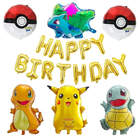 LIUUWO Balloon 1 Set Pokemon Go Jenny Turtle Helium Foil ...