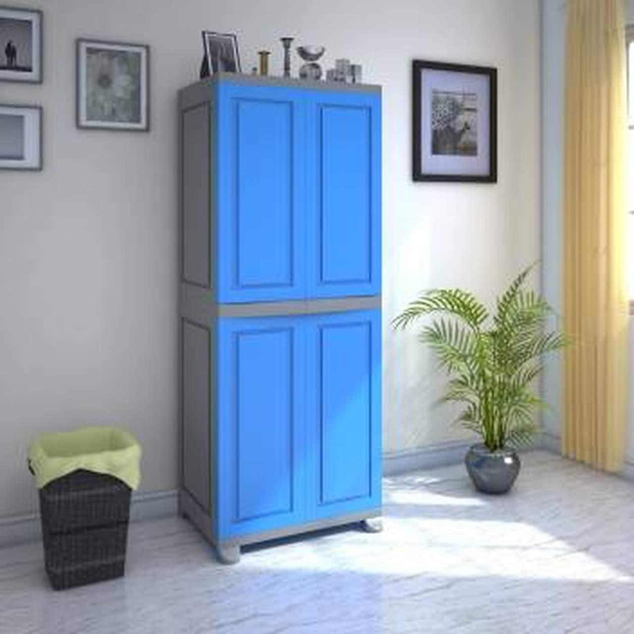 Nilkamal Freedom Big 1 Fb 1 Plastic Storage Cabinet Deep Blue Grey Amazon In Home Kitchen