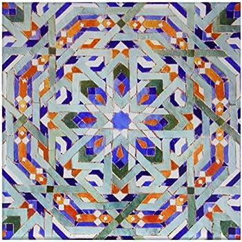 6-Inch Hassan Ii Mosque Mosaic Islamic Tile Detail-Af29 Kwi0018-Kymri Wilt-Ceramic Tile 3dRose ct/_73580/_2 Morocco