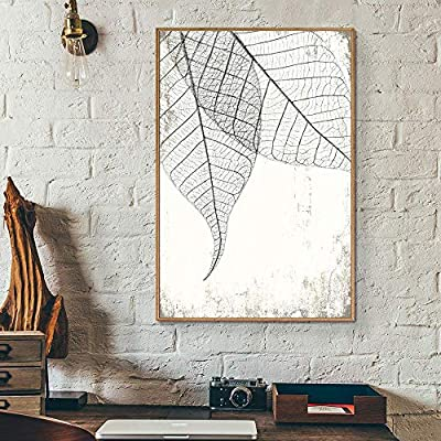 Framed Canvas Wall Art for Living Room, Bedroom Translucent Leaves Canvas Prints for Home Decoration Ready to Hang - 24x36 inches