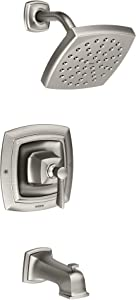 Moen 82922SRN Conway Posi-Temp Tub and Shower with Valve Included, Spot Resist Brushed Nickel