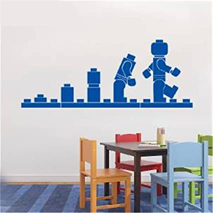 Amazon.com: Smwoag Wall Stickers Quotes Vinyl Art Room Mural Posters Lego  Evolution For Playroom Nursery Kids Room: Home U0026 Kitchen