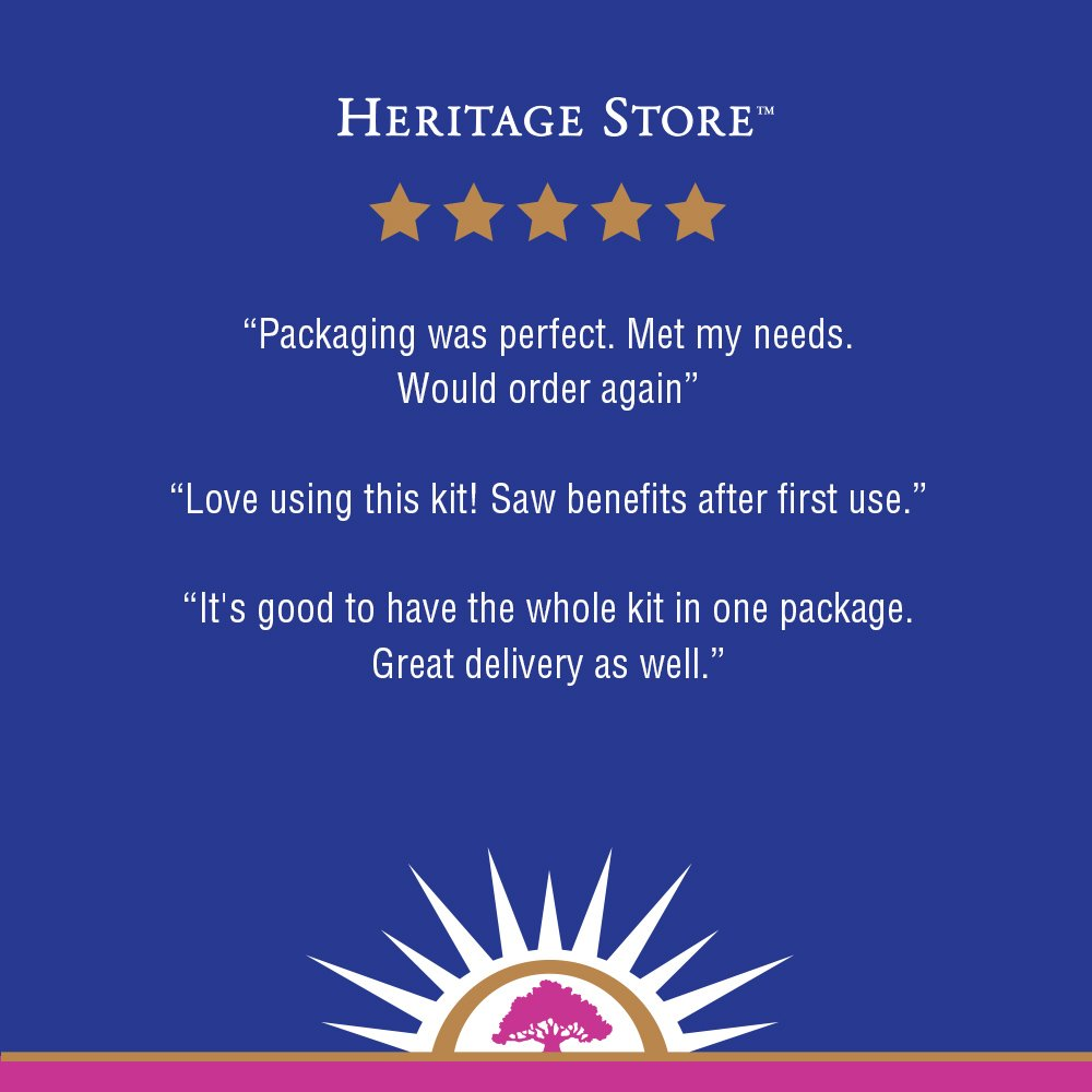 Heritage Store Castor Oil Pack | Natural & Unbleached, Sewn in USA | Cold Pressed, Hexane & Fragrance Free | Oil, Wool & Towelettes | 16 oz by Heritage Store (Image #5)