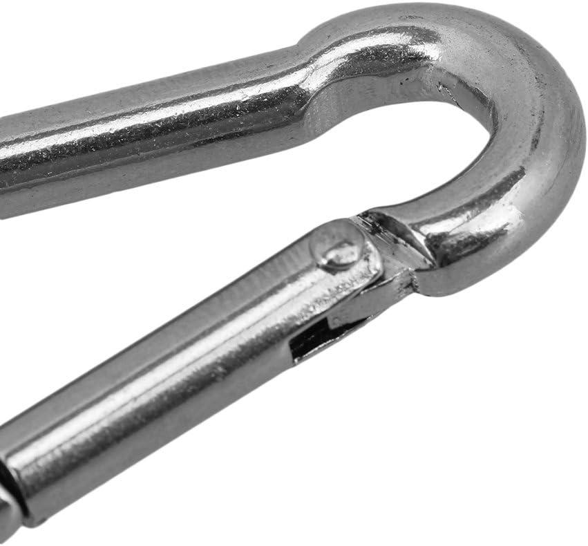 5 St/¨/¹cke 304 Edelstahl M5 Karabiner Karabinerhaken Clip Camping Klettern Secure Lock
