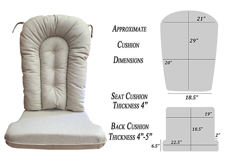 Glider Rocker Replacement Cushion Set, Natural Fabric