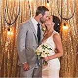 ShinyBeauty 7FTX7FT Gold Shimmer Sequin Fabric Photography Backdrop