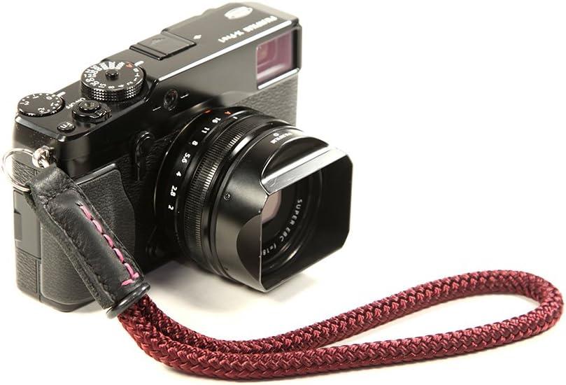 Lance Camera Straps Classic Lug Wrist Cord Camera Wrist Strap Burgundy
