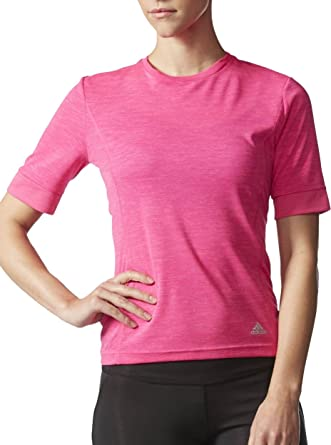 1a20a106af1d4 adidas Supernova Short Sleeve Ladies Running Top - Pink  Amazon.co ...