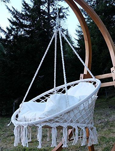 DESIGN Hängesessel Stoffsessel Schwebesessel CATALINA mit Kissen (ohne Holzgestell) von AS-S