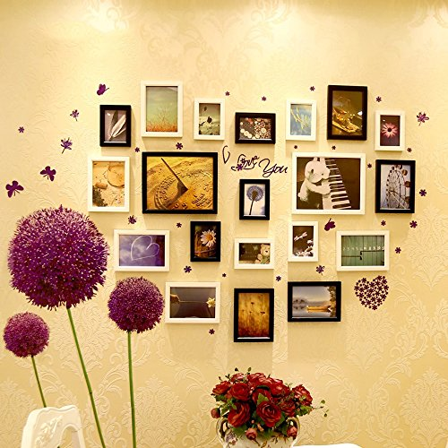Collage picture frame wall photo frames Photo Wall, Solid Wood Photo Wall, European Photo Wall Decoration Wall Stickers (Color : 2#) by Collage picture frame