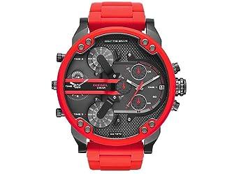 8b322db62fcb Reloj hombre DIESEL DZ7370 Mister Daddy 2.0 - Acero Rojo - 4 tiempos   Amazon.es  Deportes y aire libre