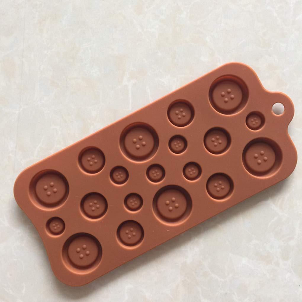 Lorjoyx Que adorna la Herramienta de la Torta bot/ón de tama/ño de m/últiples Molde en Forma de Pasta de az/úcar DIY 3D de Silicona del Molde del Caramelo de Chocolate