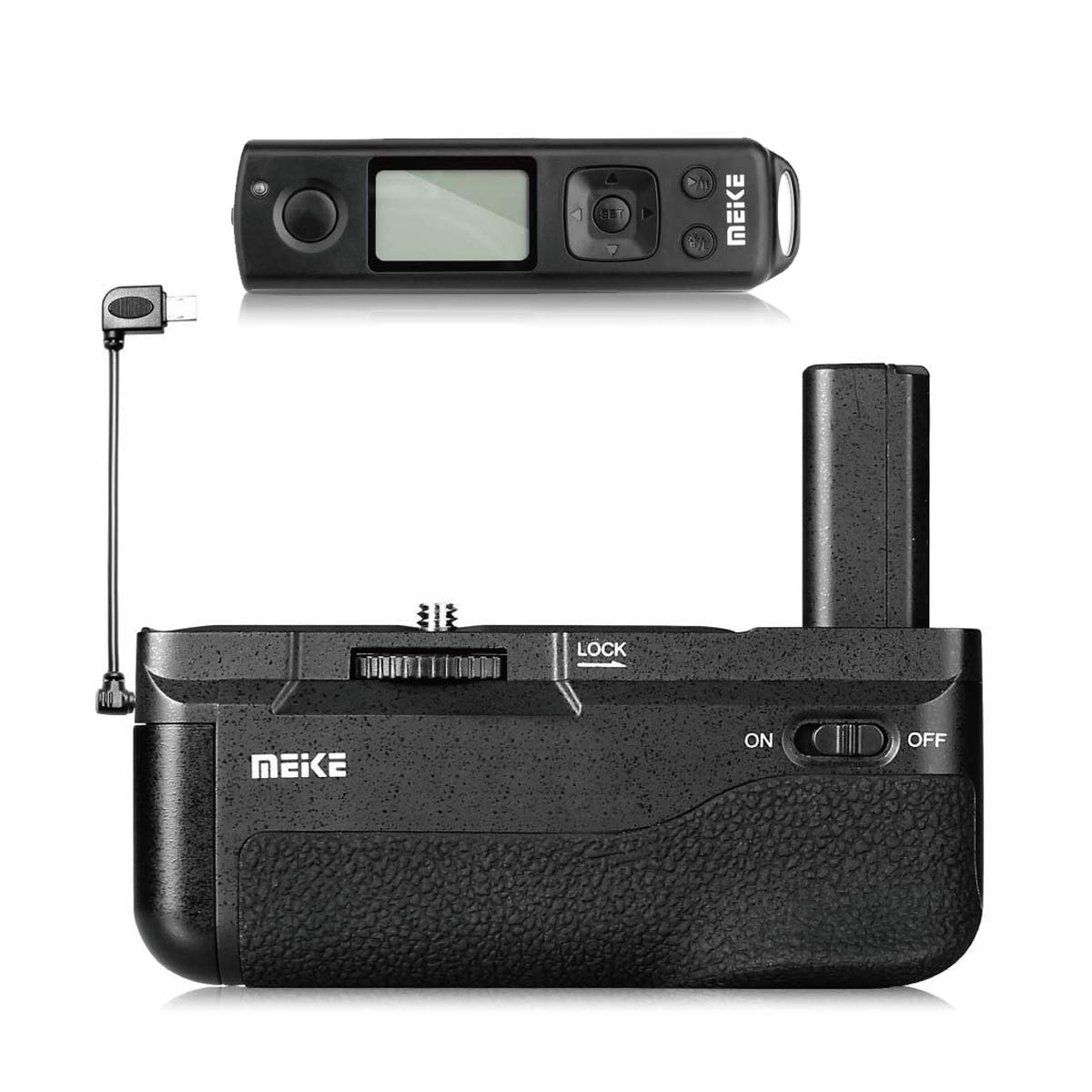 Meike A6300 Battery Grip, A6000 Battery Grip, MK-A6300 PRO Built-in Battery Handle 2.4GHZ Remote Controller Up to 100M to Control Shooting for Sony a6000, a6300 Camera