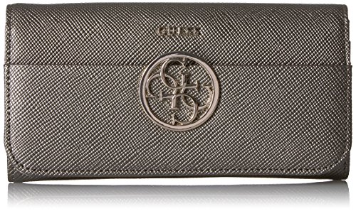 Organizer Flap (GUESS Women's Kamryn Pw Large Flap Organizer, Pewter, One Size)