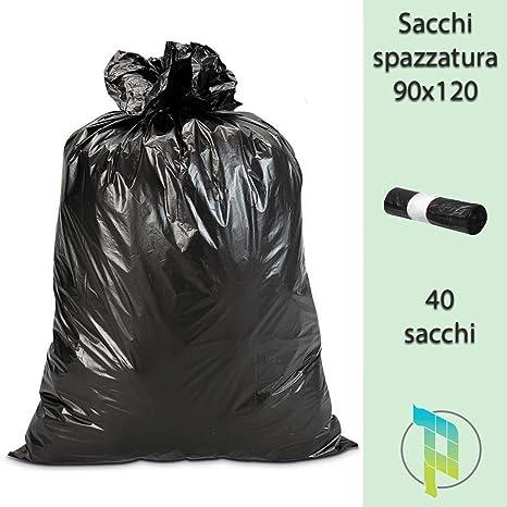 palucart® bolsas de basura de 120 litros negros grandes y ...