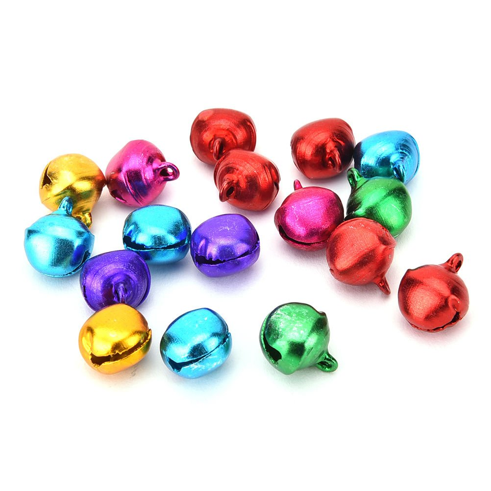200 x 6mm Silver Plated Jingle Bells Iron Bells for Jewellery Making