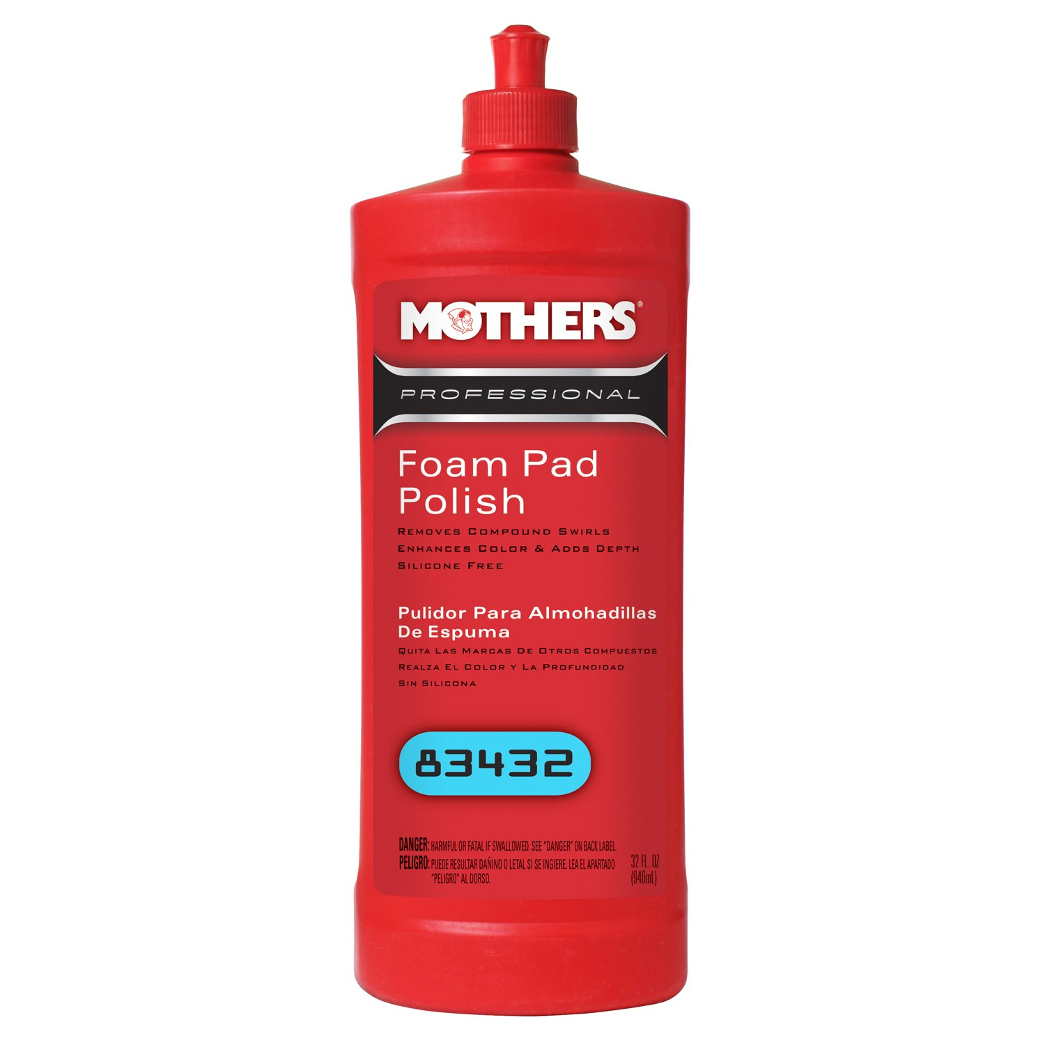 Mothers 83432-6 Professional Foam Pad Polish - 32 oz., (Pack of 6) by Mothers