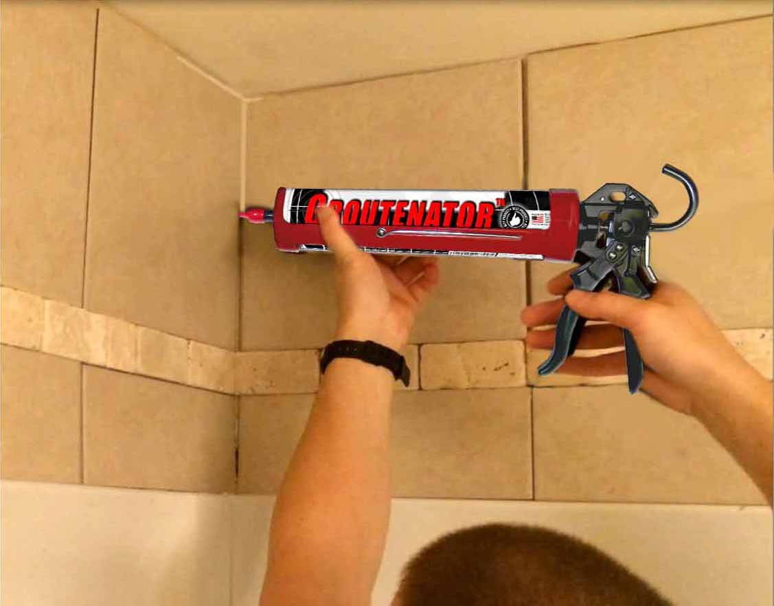 GROUTENATOR - Caulk Gun Injection System for Tile Grout, Mortar, Cement, Glues and more... Grout Bag and Float Replacement. by Sundog Systems (Image #5)