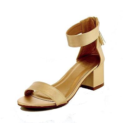 c2454e46783 WestCoast Doria-03 Women s Single Band Block Heel Sandal With Over Toe   Ankle  Wrap