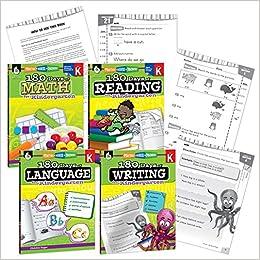180 Days of Practice- Kindergarten Workbook Set