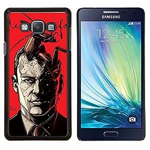 LECELL--Funda protectora / Cubierta / Piel For Samsung Galaxy A7 A7000 -- Metamorfosis rojo impresiones Hombre libro --