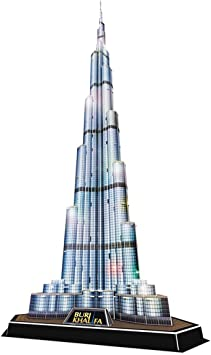Cubic Fun 3D Puzzle Burj Khalifa Vereinigte Arabische Emirate mit LED 146 cm