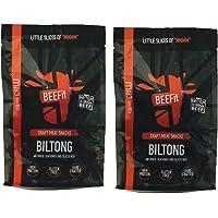 BEEFit Snacks 1kg Chili Biltong, Hohes Protein, Gesund, Wenig Zucker, Nicht Beef Jerky (2x500g)