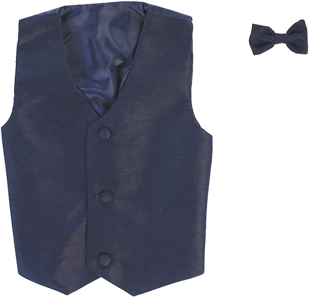 Vest and Clip On Bowtie set Baby Infant Toddler Boys Tween Sizes Multiple Colors