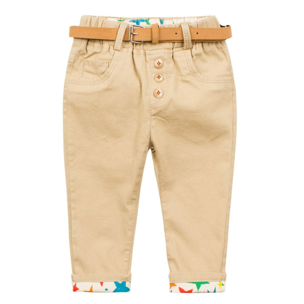 Coodebear Baby Boys 100/% Cotton Stars Printed Hemming Bottom Casual Pants
