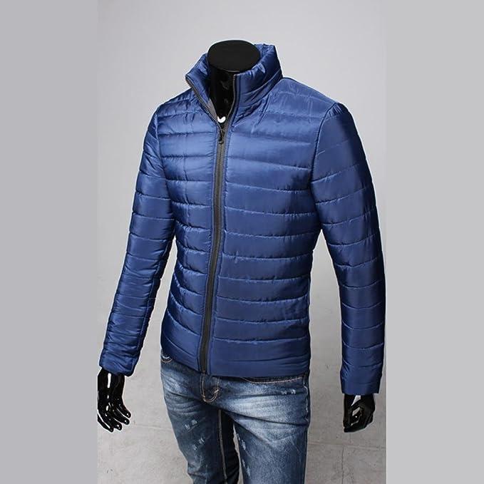 YunYoud Männer Baumwolle Mantel Herren Einfarbig