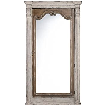 Hooker Chatelet Floor Mirror With Jewelry Storage In White