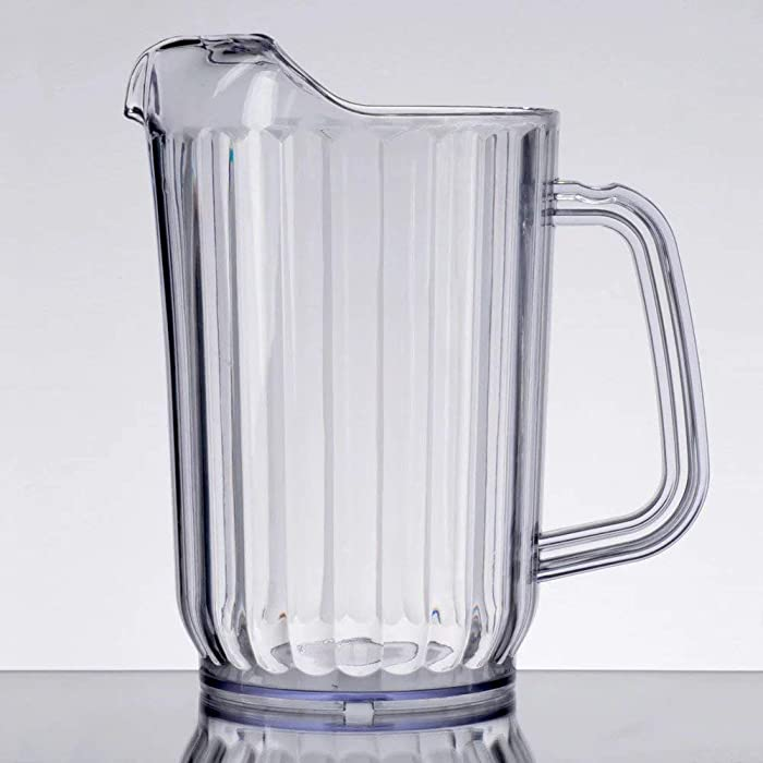 Choice 32 oz. Clear SAN Plastic Water Pitcher, BPA free