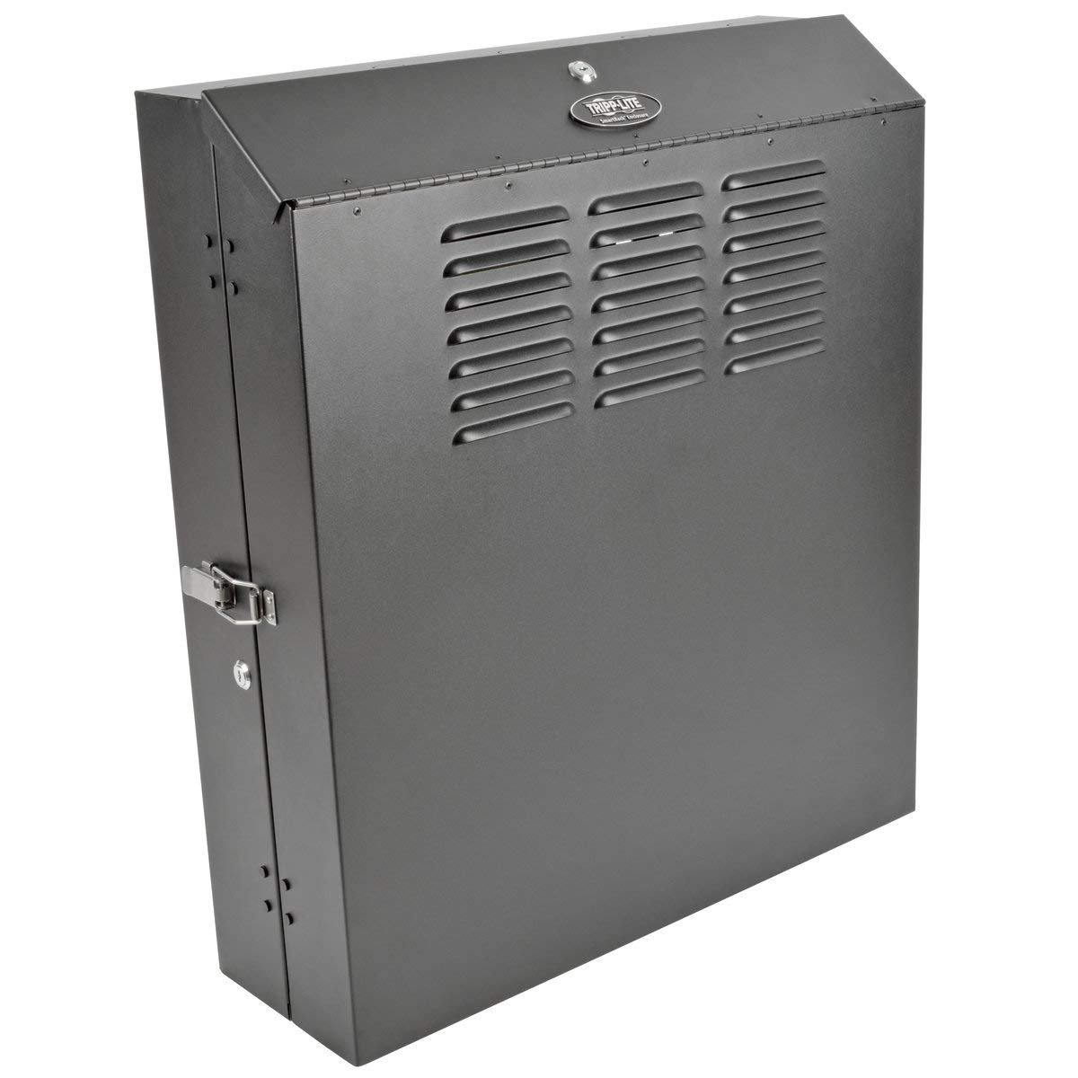 Tripp Lite 4U Vertical Wall Mount Rack Enclosure Cabinet, Low Profile,  Switch-Depth, 20