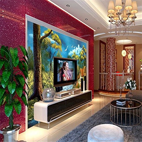 Wallpaper Wall Decoration Factory Price Wallpaper 3D Large Modern Paintings Bedroom Marriage Room Sofa in The Living Room Wall Garden Bungalow ()