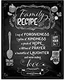 Family Recipe - Forgiveness Laughter Love - 11x14 Unframed Typography Art Print - Great Kitchen Decor
