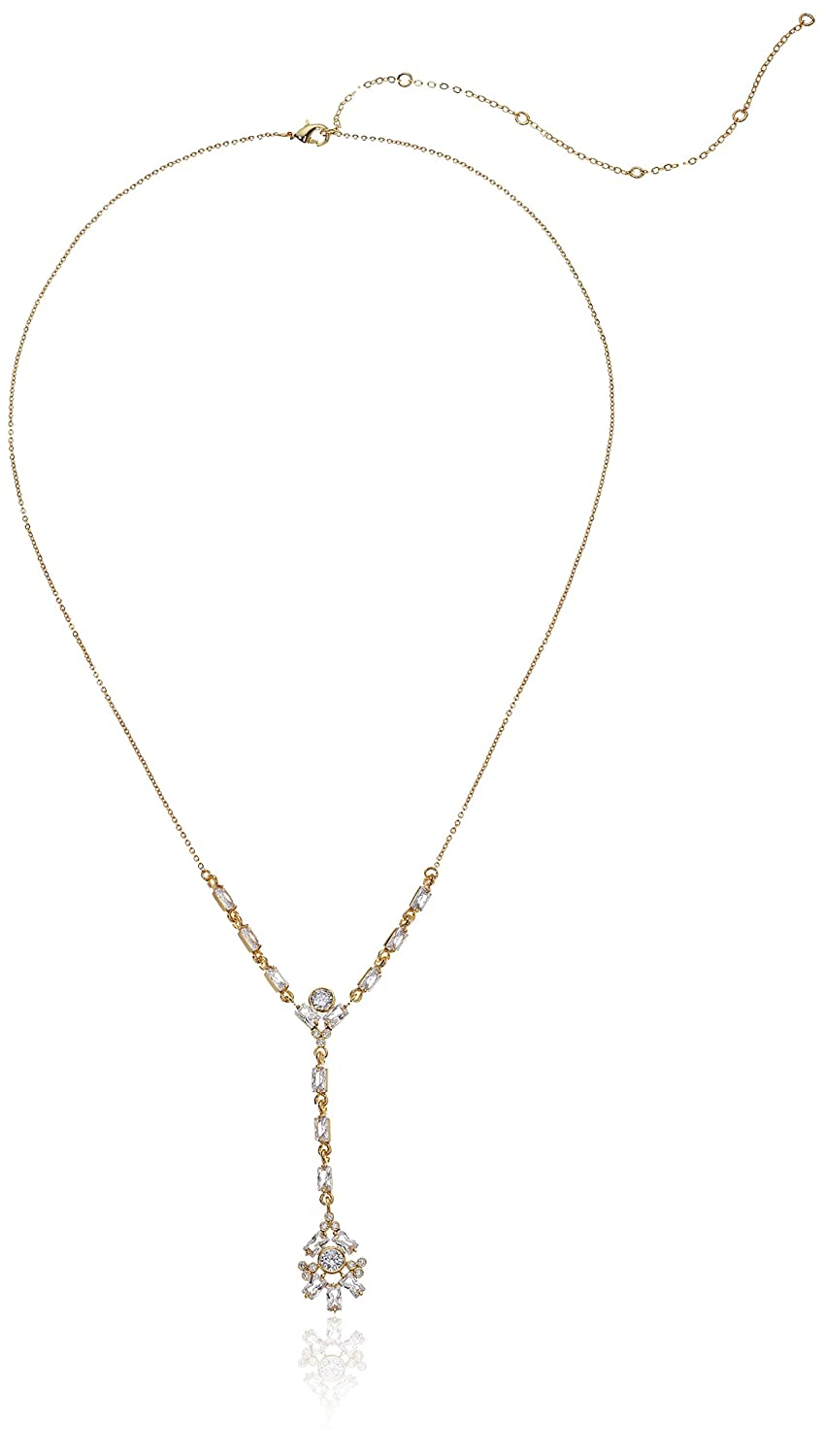 Clgo CZ by Kenneth Jay Lane Womens Baguette Cluster Y Shaped Necklace One Size KN693/_CLGO