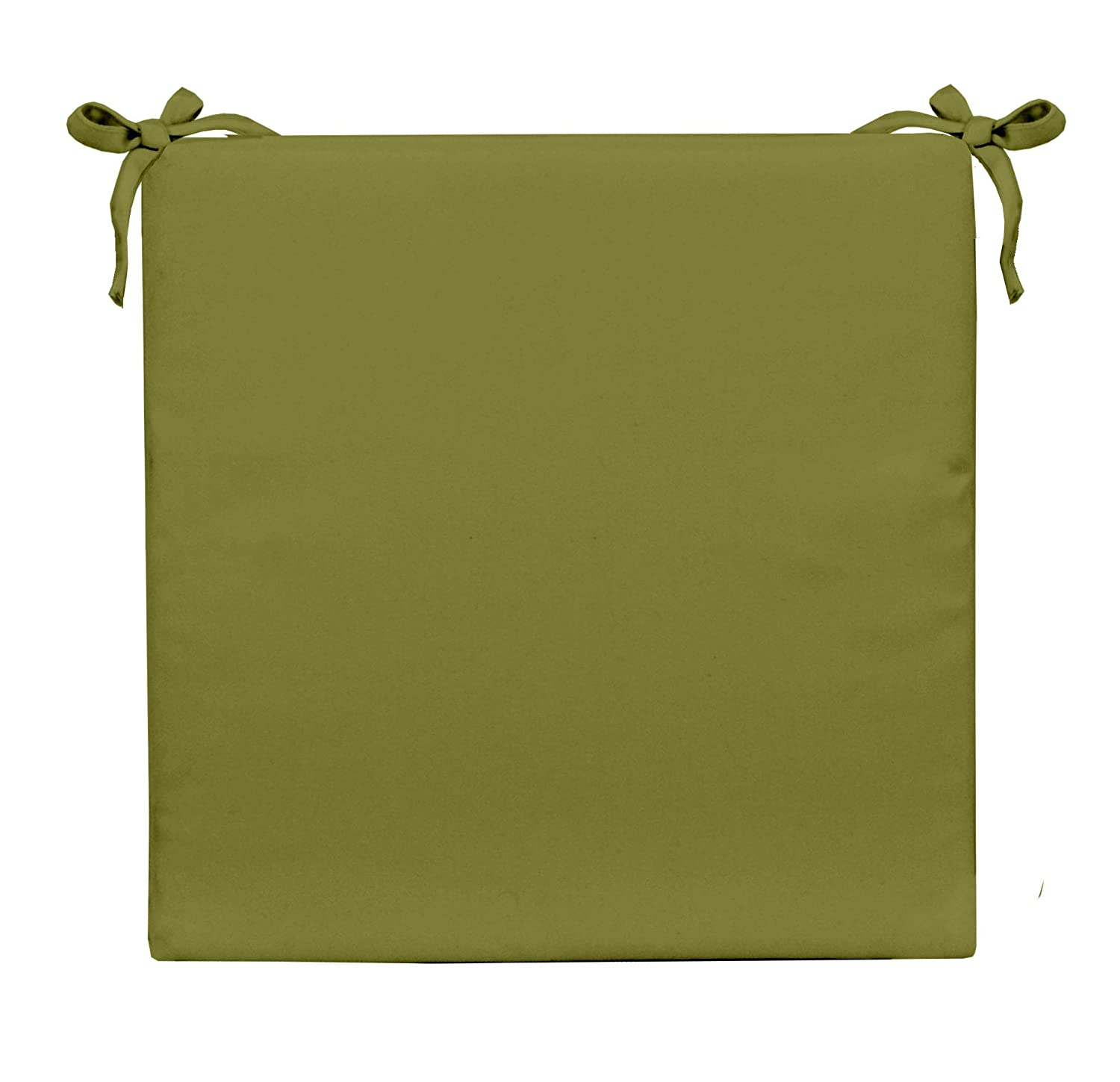 Resort Spa Home Decor Solid Kiwi Green Universal 3 Thick Foam Seat Chair Cushion w Ties – Indoor Outdoor – Choose Size