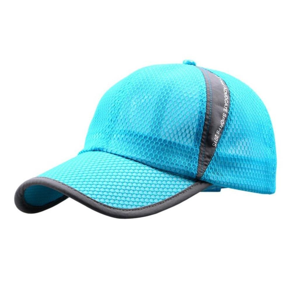 Bestpriceam Men Women Sun Hat Quick-dry Ventilation Baseball Cap (Sky Blue)