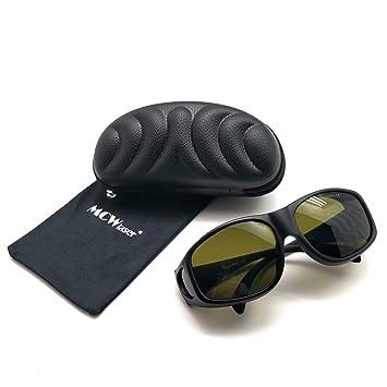MCWlaser IPL-Laserschutzbrille 190-2000 nm f/ür sommersprossige Hautverj/üngung Aufhellung von Haart/ätowierungen Pigmententfernung Absorptionsart Brille f/ür Myopie EP-20