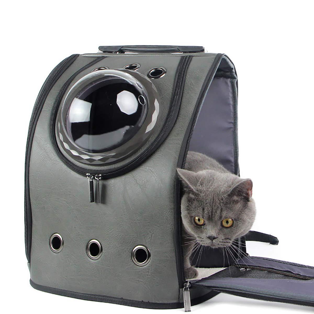 Brown Pet Out Bag Cat Bag Transparent Pet Bag Out Portable Shoulder Dog Bag Breathable Pet Backpack