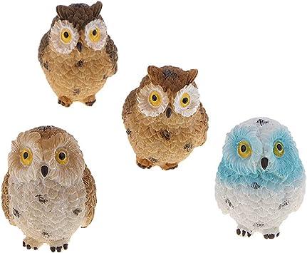 4pcs realistica Bird Decor FIGURINA Bird modello STATUA SCULTURA prato all/'aperto