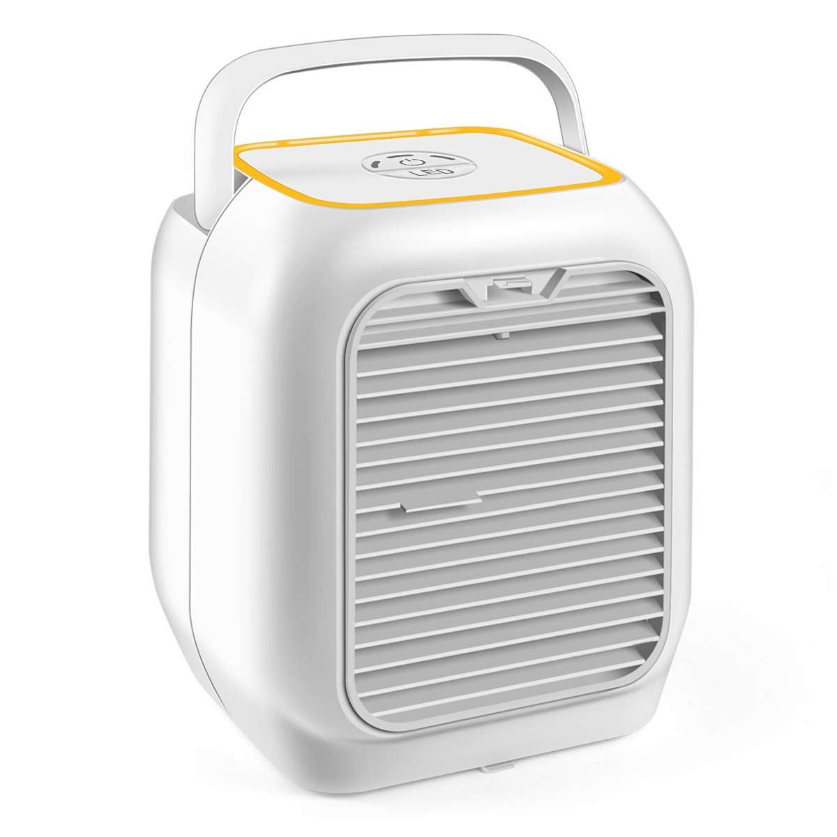 VANTAKOOL Personal Air Conditioner Fan, Air Personal Space Cooler 9.5-inch Small Desktop Fan Quiet Personal Table Fan Mini Evaporative Air Circulator Cooler Humidifier Bladeless Quiet for Office, Dorm