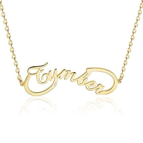 MeMoShe Personalisierte Namenskette, Custom Kette mit Name, Silber Halskette mit Gravur, Personalisiertes Geschenk für Freundin, Damen, Mutter,