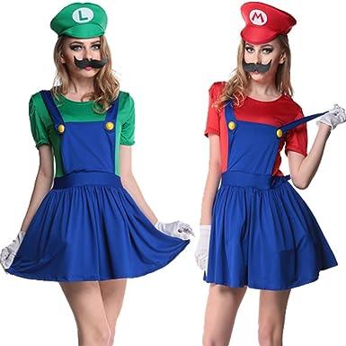 halloween plumber costume women game cosplay88528 m green
